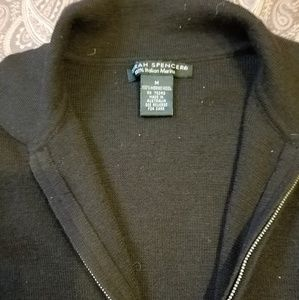 Sarah Spencer Black 100% Italian Merino Wool Sweat